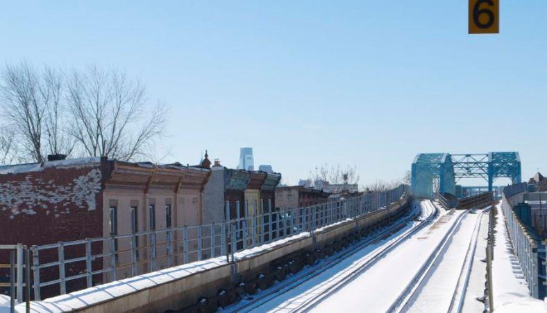 Somerset el stop, Market Frankford line, Northeast Philadelphia.