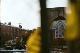 Bulldozed church.