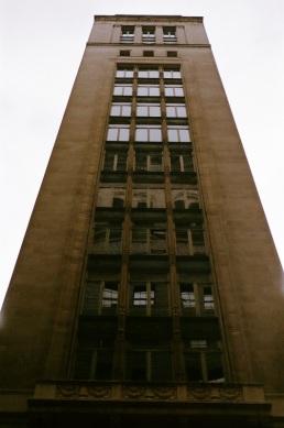 Monolithic building on Chestnut Street.