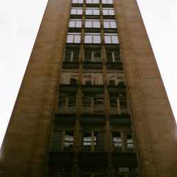 Monolithic building on Chestnut Street.