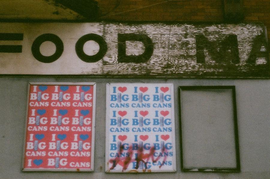 Agresta loves big cans, Morris Street.