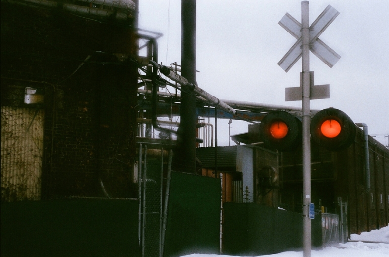 Perpetually railroad crossing.