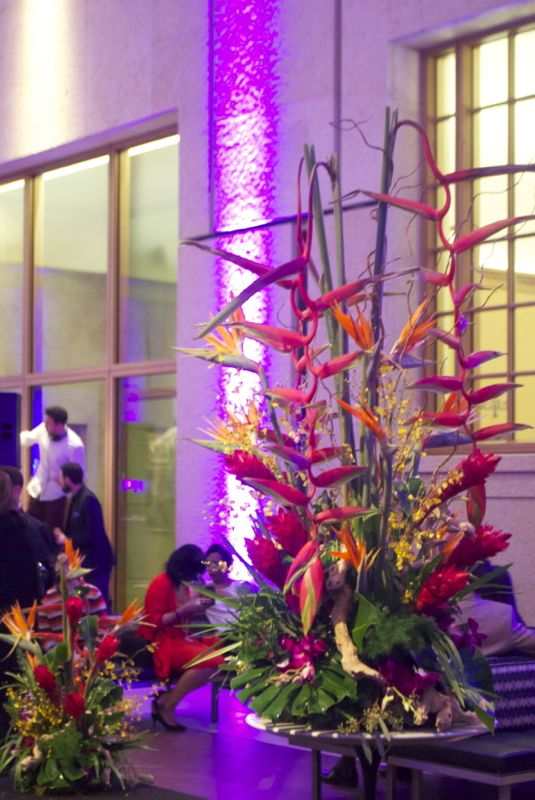 Global Glam & exotic flowers at the Barnes Foundation.