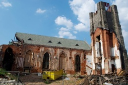 A landscape of destruction and desecration.