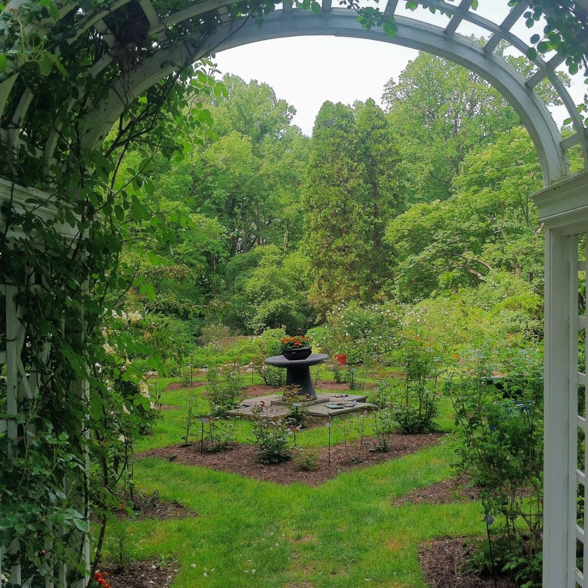 The perennial garden, Barnes arboretum.