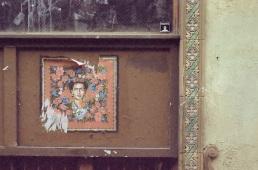 Summaiya Jillani's Frida Kahlo on the former Rittenhouse Coffee Shop, Sansom Street.