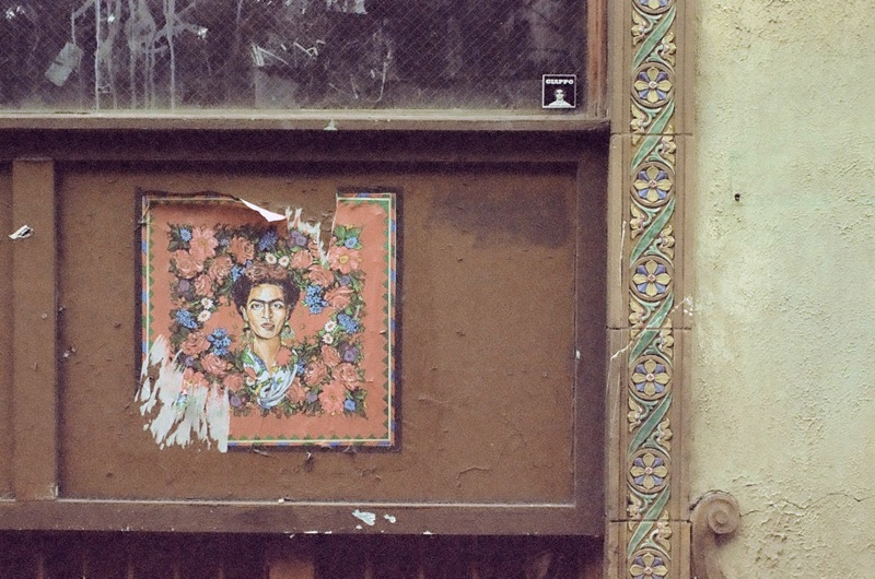 Summaiya Jillani's Frida Kahlo on the former Rittenhouse Coffee Shop, Sansom Street.