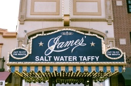 Cut to fit the mouth, that James' Salt Water Taffy is.