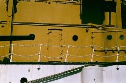 Top half of a Twinkie, USS Olympia.