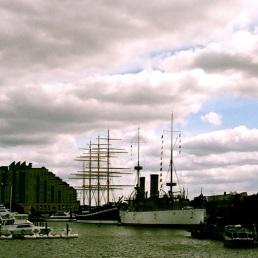 Delaware River harbor, near Spruce Street, Philadelphia.