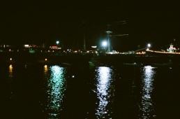Night harbor.