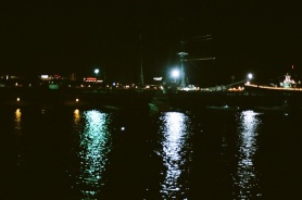 Night harbor.