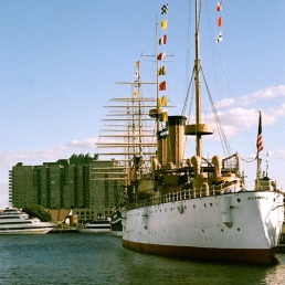 There she is again, USS Olympia.