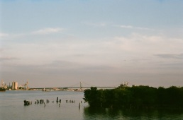 Walt Whitman bridge, as seen from Land Buoy.