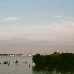 Walt Whitman bridge, as seen from Land Buoy.