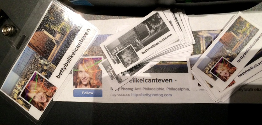 I made my own name tag (and mini business cards to match!).