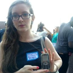 Awwwwwww! Katie doesn't have a smartphone!