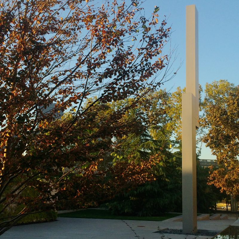 Ellsworth Kelly's Barnes totem in a new light.