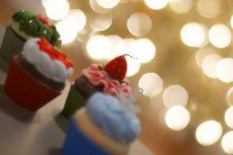 The Hallmark cupcake ornaments.