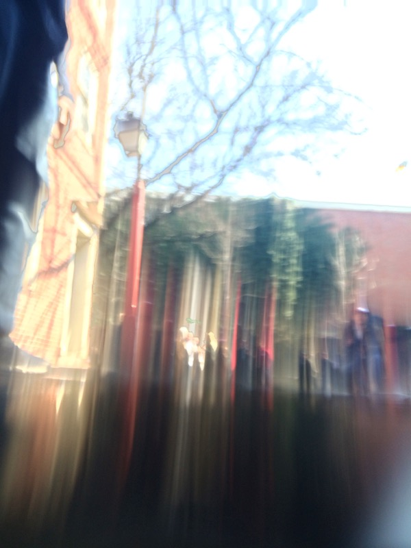 While everyone shoots reflections in puddles, I stick my phone in and shoot through puddles.