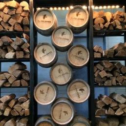 La Colombe barrels o' rum!