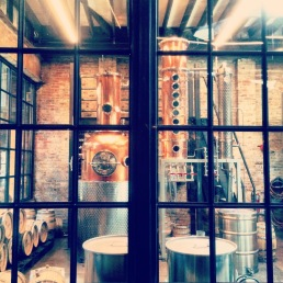 The rum distillery at La Colombe, Fishtown.