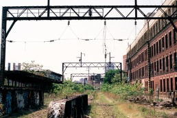 The abandoned Reading Viaduct.