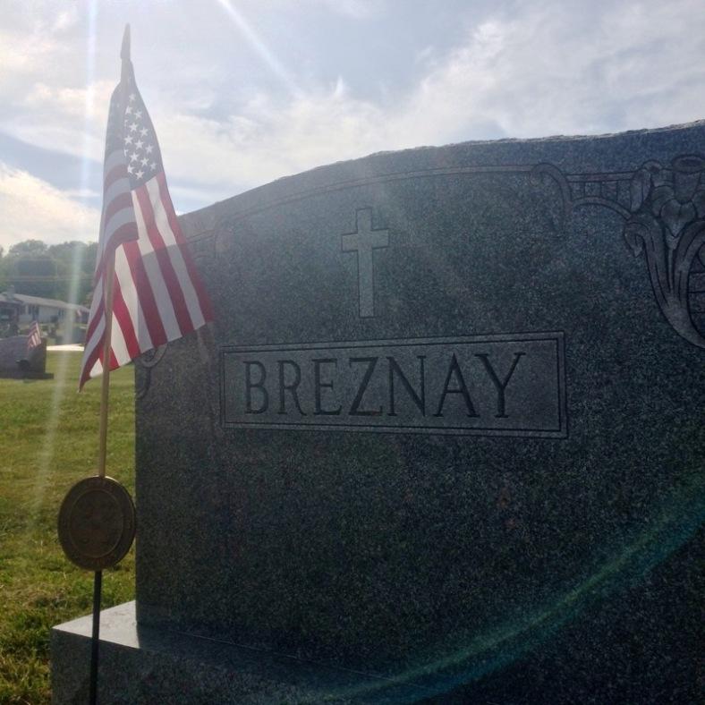 The Breznay family plot at Holy Trinity Cemetery, Swoyersville.
