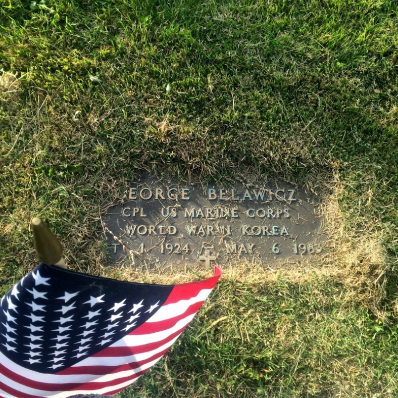 My maternal grandfather, George Belawicz, Corporal in the US Marine Corps.