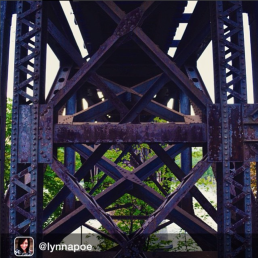 A rusty bridge by iger @lynnapoe