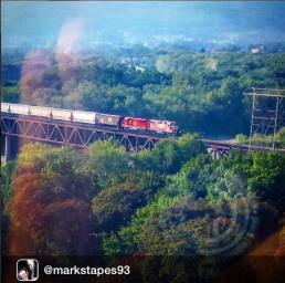 A passing train by iger @markstapes93