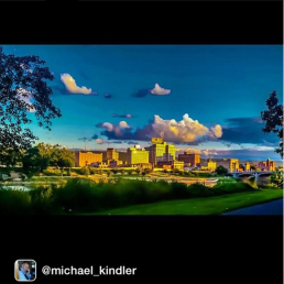 The Wilkes-Barre skyline by iger @michael_kindler