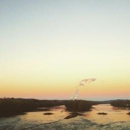 Crossing the Suskie, back to Berwick.