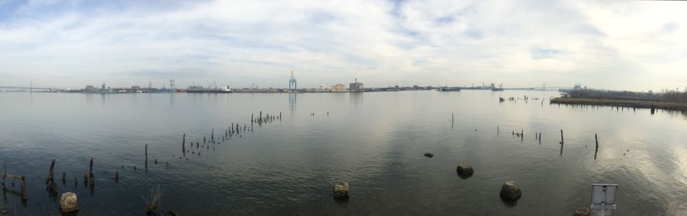 Behold, the Delaware River from Pier 53.