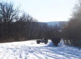 Tearing up some snow!