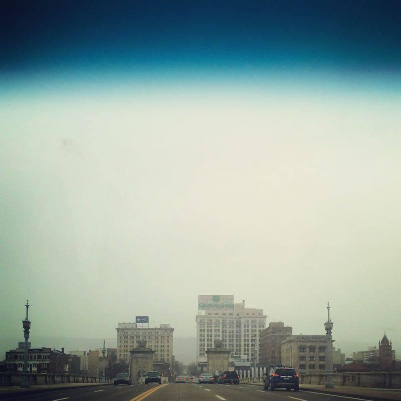 Wilkes-Barre Skyline from the Market Street Bridge.
