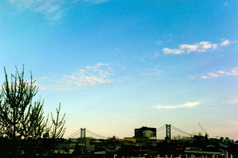 The Benjamin Franklin Bridge.