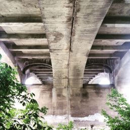 Under the Market Street Bridge, Wilkes-Barre, PA.