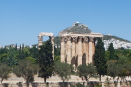 The view of the Temple of Olympian Zeus from our hotel room.