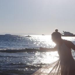 Being a Greek Goddess at Astir Beach.
