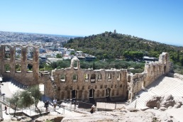 The Odeon of Herodes Atticus, Athens, Greece.
