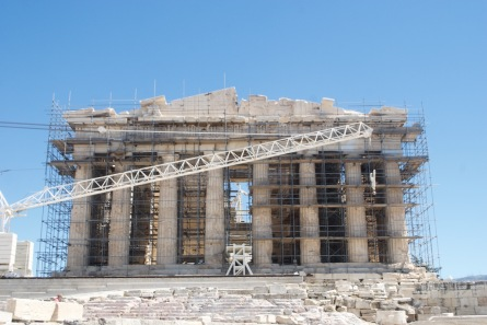 The ancient Greek temple meets technology.
