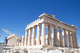 The centuries-old Parthenon.