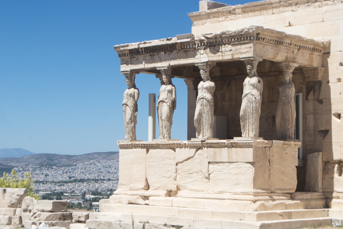 The Caryatids of the Erechtheion.
