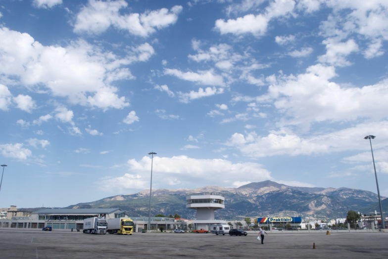 The great big boat parking lot in Patras, Greece!