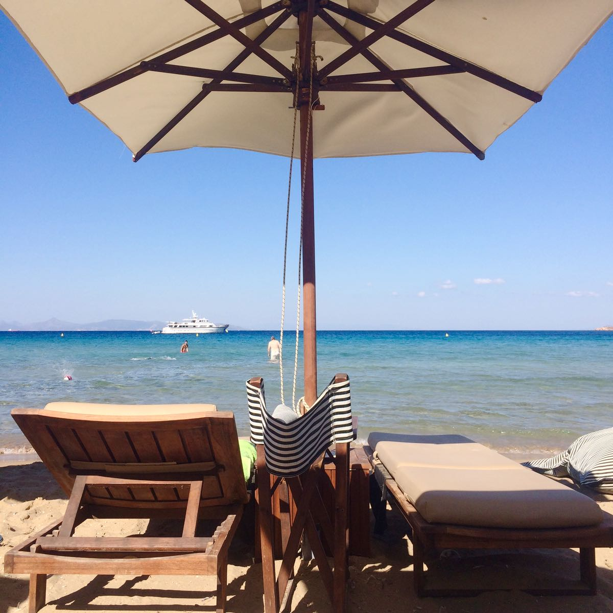 Relaxing & staying a while on Astir Beach, Athens.