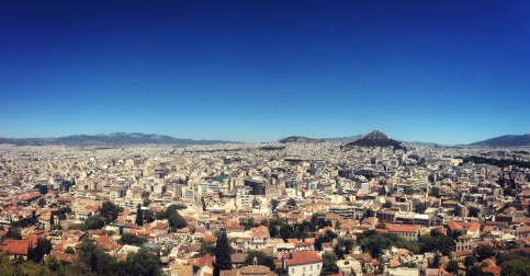 Greece from the Acropolis.