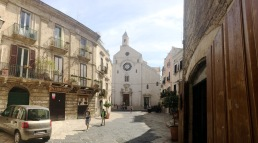 The old port town of Bari, Italy.