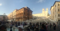 Now you're not allowed on the Spanish Steps! Times have changed.