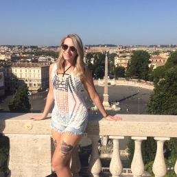 Betty Breznay back at it again in Rome!